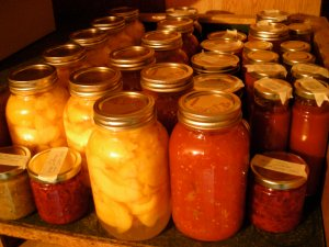 some of our home canning bounty