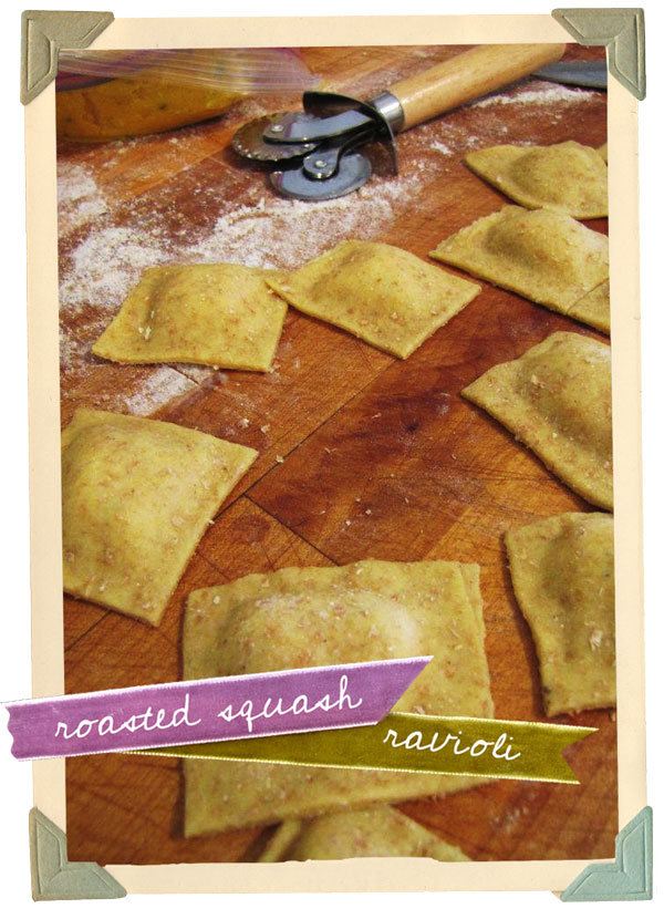 roasted squash and roasted garlic ravioli recipe