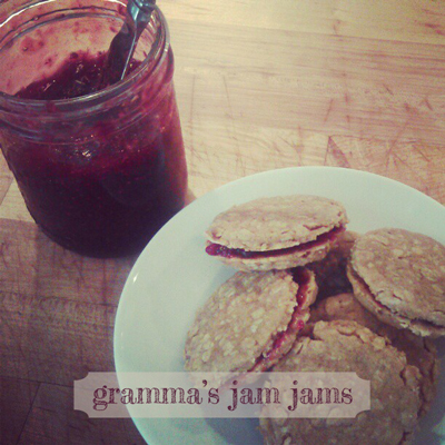 grandma smith's jam jam cookie recipe