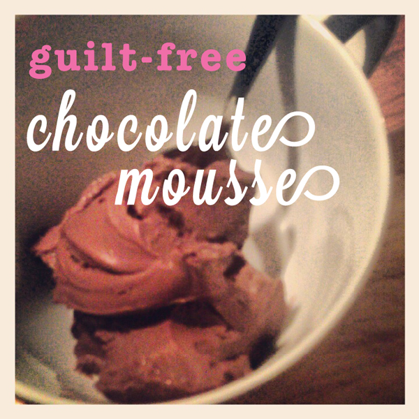 guilt free chocolate mousse recipe