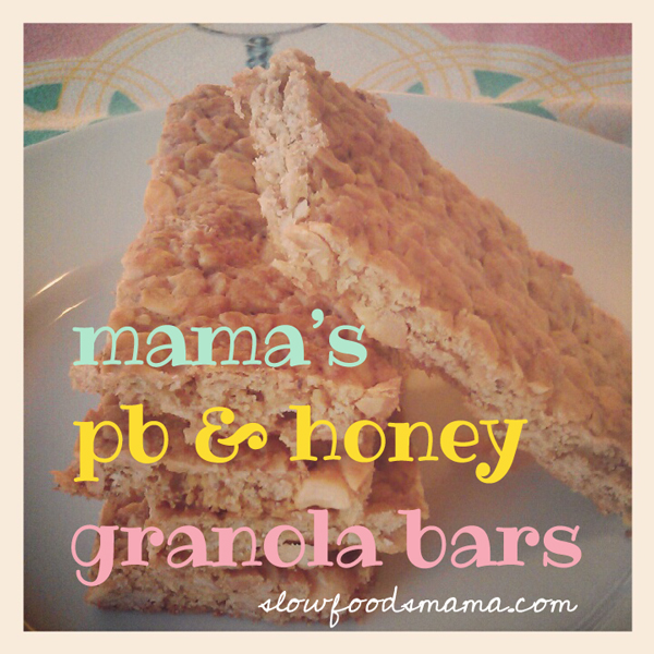 peanut butter and honey granola bar recipe